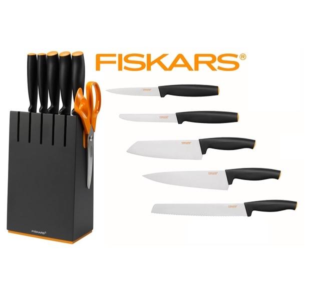 FISKARS Blok černý s 5 noži Fiskars Functional Form 1014190
