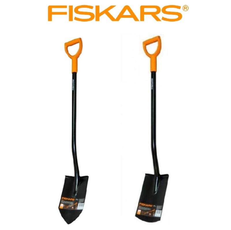 FISKARS SET rýčů Fiskars Solid špičatý 131413 + Fiskars Solid rovný 131403