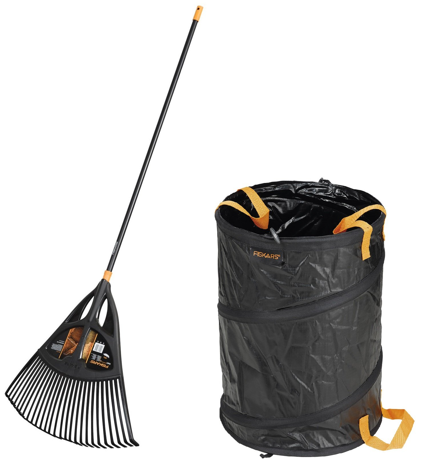FISKARS Hrábě na listí Solid™ XL + koš zahradní 56 l Solid™ - SET Fiskars 1019762