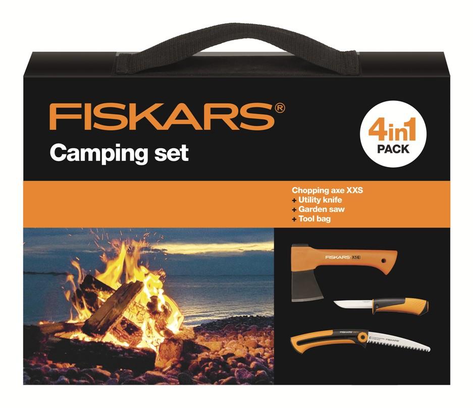 FISKARS Kempingová sada Fiskars 1025439,sekera + nůž + pilka