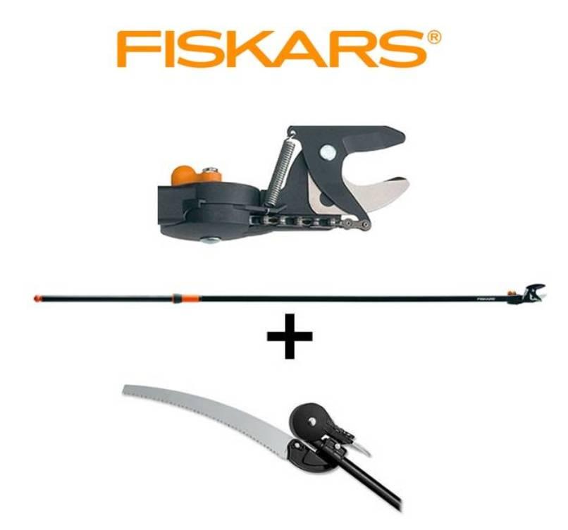 FISKARS Nůžky zahradní housenice 4 M Fiskars 115390 + prořezávací pilka UP80 Fiskars 110950
