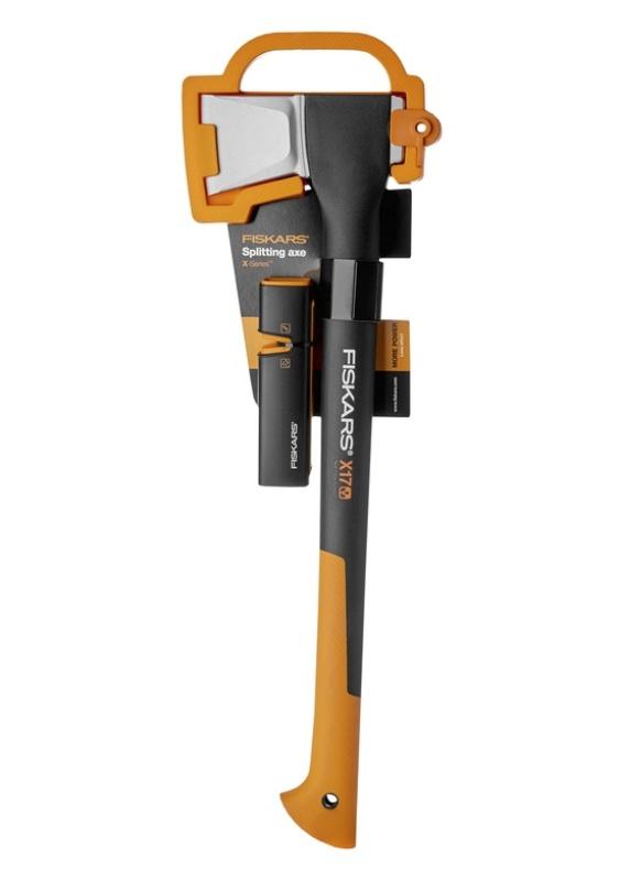 FISKARS Sekera štípací X17 + ostřič nožů a seker Xsharp™ - SET Fiskars 129050 (1020182)