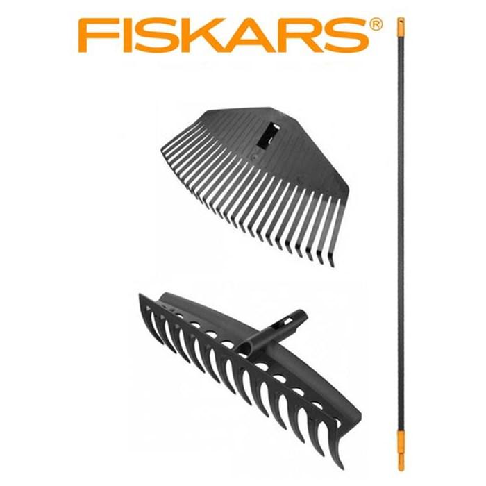 FISKARS SET Hrábě univerzální + hrábě na listí střední + násada Fiskars Solid