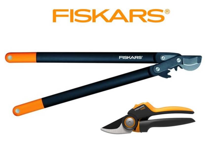 FISKARS SET nůžky na silné větve převodové L78 + nůžky dvoučepelové PX92 FISKARS 1023630+112590